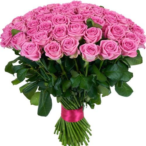 Купить на заказ Букет из 101 розовой розы с доставкой в Атбасаре