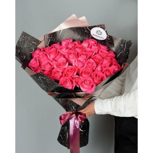 Купить на заказ Букет из 51 розовых роз с доставкой в Атбасаре