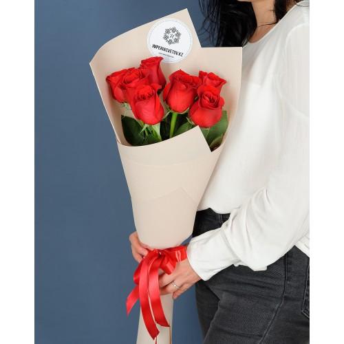 Купить на заказ Букет из 7 роз с доставкой в Атбасаре